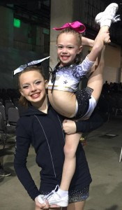 Miss Jessica having fun with her back spot Mazy! Way to go Jessica for earning The athlete of the session award. She was the top athlete that stood out of the whole division and WOW'd the judging panel!