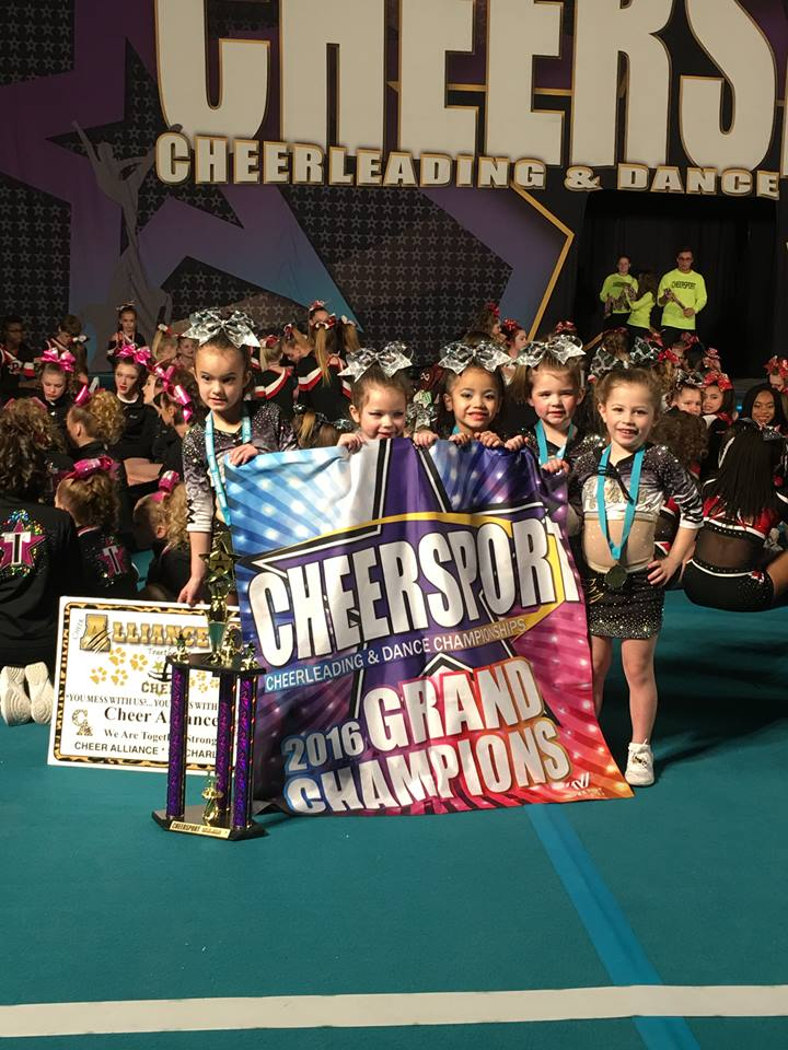 dazzles 1st place grand champs Cheersport 2016